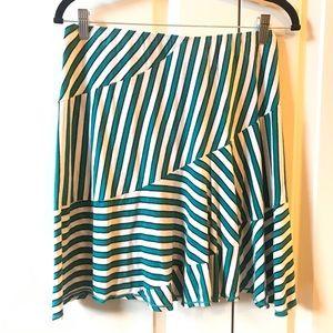 Like New Max Studio Striped Mini Skirt